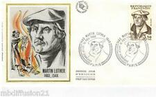 1983 - ENVELOPPE SOIE // FDC 1°JOUR - MARTIN LUTHER- THEOLOGIE - TIMBRE Yt.2256