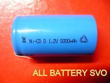 BATTERIA RICARICABILE Ni-Cd D 5000mAh 1.2V con lamelle