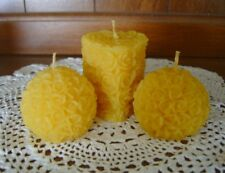 Handmade Beeswax Candles - balls and heart roses set
