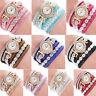 Luxury Womens Girls Ladies Diamond Crystal Dail Analog Quartz Dress Wrist WatchA