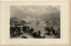 View of Baltimore S. Fisher View of Baltimore from the inner harbour 1850