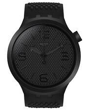 Swatch Big Bold Wrist Watch Bbblack SO27B100