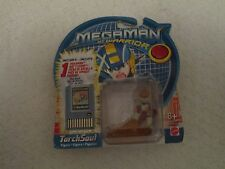 Mattel Megaman NT Warrior TorchSoul Figure with BoysBomb1 Battle Chip