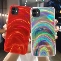 Colorful Rainbow Case for iPhone 11 Pro Max XS X 8 XR Glitter Mirror Laser Cover