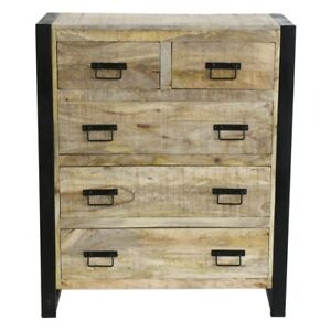 Harbour Reclaimed Wood Bedroom Storage Furniture 2 Over 3 Chest of Drawers