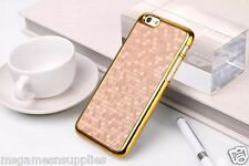 Gold / Gold Chrome Honeycomb Honey Comb Plastic Case for iPhone 6+ 6PLUS 5.5