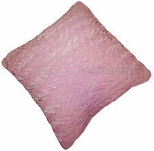 Paquete De 4 Rosa Terciopelo Plisado Cushion Covers Zig Zag Rosa Pastel Suave Felpa