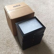 "Economy Box (of 6) 3-1/4 x 4-1/4 x 3/4"" Display Cases (""Riker"" type) Free Ship"