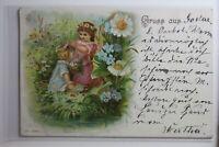 AK Deutschland Grußkarte 1899 gebraucht #PH555