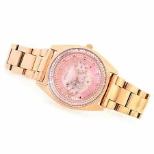Invicta Angel Quartz Multi Function Pink Crystal Stainless Steel Watch Rose NWT