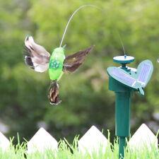 Jn_ Solar Powered Flying Feather Wing Fake Hummingbird Garden Ornament Decor S
