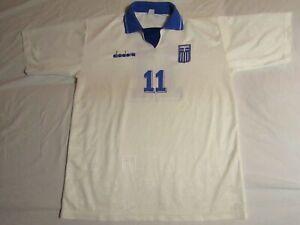 Greece, Diadora, match worn jersey, L, 1994-95