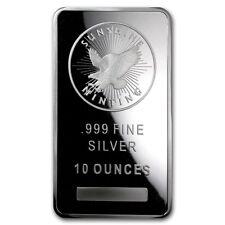 10 oz Silver Bar - Sunshine (MintMark SI) - SKU #72281