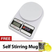 7KG/1G LCD Electronic Kitchen Weighing Scale with Self Stirring Mug (Yellow)