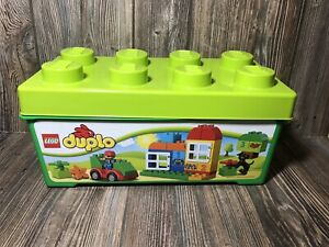 Lego DUPLO All-In-One-Box-Of-Fun #10572  96% Complete with Tub 61 Pcs 2014