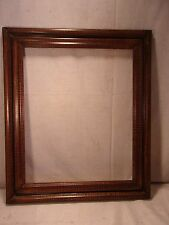 Vintage faux grained wood frame 23 3/4 x 27 1/2 holds 7 3/4 x 22 molding 3""