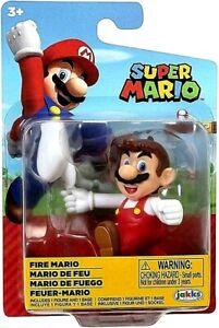 "Jakks Super FIRE MARIO 2.5"" Figure Nintendo"