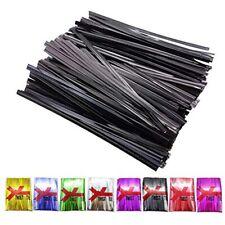 H-Laner Bread Bags Tie 400Pcs 4&quot Metallic Twist Ties (Black) Garden &amp
