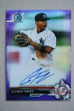 Gleyber Torres 2017 Bowman Chrome Purple Refractor Auto RC #'d 028/250 - Mint!!