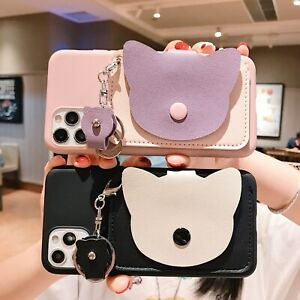 Cute Cartoon Wallet Coin Purse Women Girl Hot Soft Phone Case Cover For Samsung