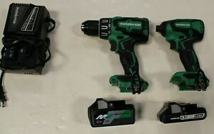 Metabo HPT KC18DBFL2S 18V Li-On Cordless Hammer Drill & Impact Driver Combo Kit