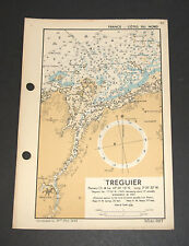 D-Day Invasion Planning of France TREGUIER - WW2 Military Map 1943