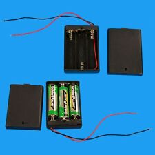 1Pcs 3 AAA 4.5V Battery Holder Box Case with ON/OFF Switch / Black Cover