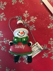 Ganz Jolly Jingles Snowman Christmas Ornament - Personalized SANDY