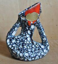 "Vallauris Ceramic French 1970s 'LAVA' Vase in Blue White Red 5.5"""