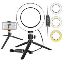 """6"""" LED SMD Ring Light Kit with Tripo Stand Dimmable  for Makeup Phone Camera"""