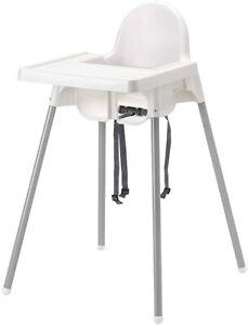 Ikea Antilop Kinderhochstuhl mit Tablett Sitzgurt Babysitz Hochstuh