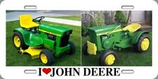 "Metal License Plate 6x12 "" I Love John Deere"" Old Garden Tractor Novelty  Xmas"