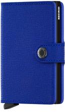 Secrid Crisple blau Leder Mini Geldbörse