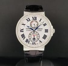 Ulysse Nardin Marine Chronometer Ref. 263-67/40 S/ Steel 43mm White Dial Box & P