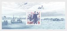 Noorwegen 2020  75yr Vrijheid   WWII  schip vlag  blok    postfris