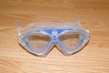 "Genuine Altis Small 5"" Clear / Blue Dive Goggles With Silicone Adjustable Strap"