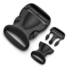Black Side Release Plastic Buckles Clips For Webbing Bags Straps 20mm/25mm 38mm