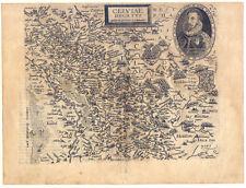 Kleve - Cliviae Ducatus - Kupferkarte - Map Quad-Bussemacher 1597 selten