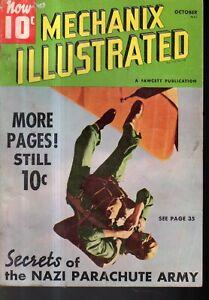 1940 Mechanix Illustrated October - Nazi parachute army; Seattle Floating Bridge
