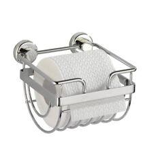 WENKO Toilettenpapierhalter OHNE BOHREN WC Rollenhalter Papierhalter Bad Halter