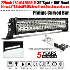 "PHILIPS  22INCH 280W LED CURVED LIGHT BAR OFFROAD SUV ATV  CAR PK 20"" 24"" 25"" 7"""