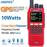 ABBREE AR-889G GPS 10W Cross Band Repeater Tri Band Funkgerät Walkie Talkie Rot