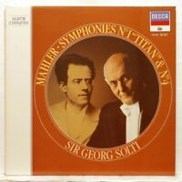 SIR GEORG SOLTI - MAHLER Symphonies nos.1 & 4 DECCA 2xLPs NM