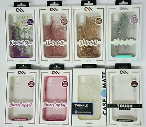 Case-Mate Waterfall Crystal Twinkle Tough Clear Case for Apple iPhone XR Colors