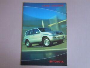 TOYOTA LAND CRUISER brochure catalogue documentation édition 01/2003 Français