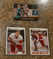 (3) Slava Kozlov 1991-92 Upper Deck Parkhurst Rookie card lot RC Red Wings