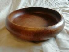 More details for very large mid century turned wood bowl 360mm (14