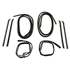 8 Piece Front Door Window Run and Sweep Weatherstrip Kit for 81-91 Chevy Truck