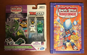 Angry Birds Transformers Telepods Jazz  vs. Brawl, NEW w/ Bonus IDW HC Comic