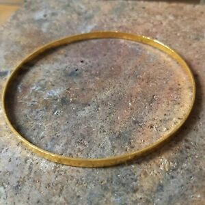 24K Solid Gold Bangle Bracelet 99.9 purity by estherleejewel